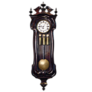 Antique Biedermeier style mahogany clock