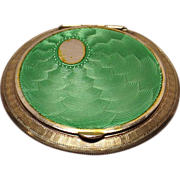 Austrian Sterling Silver Enamel Compact/Box