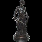 Superb Antique Male Nude Bronze by Gaudez
