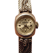 14k White Gold & Diamonds Croton Lady's Wristwatch