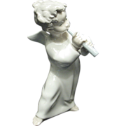 Lladro Porcelain Angel Blowing a Horn