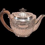 Beautiful Victorian Sterling Silver Tea Pot Sheffield 1897-98 Roberts and Belk