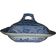 Spode Castle Pattern Vegetable Dish and Lid