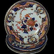 """A Set of 4  Derby Porcelain """"King's"""" Pattern Side plates"""
