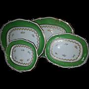 A Set of Four Davenport Platters