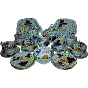 A 19th Century Porcelain Part Tea Service in the Bow Pattern