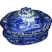 An Enoch Woods Part Dinner Service Decorated with Printed Castle