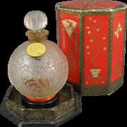 SOLD Coty A'Suma Perfume Bottle, Original Presentation Box, C.1934.