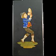 Mosaic Pietra Dura, Italian Hard Stone Plaque, Tambourine Dancer.