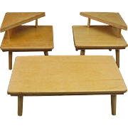 """Doll Furniture by Strombecker, Wooden 1950s Style for 8"""" Ginny Dolls."""