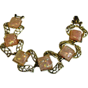 REDUCED Vintage Coro Pink Lucite Bracelet