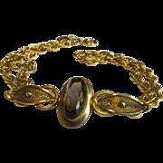 20-12 K.G.F. Smoky Quartz Bracelet Hallmarked