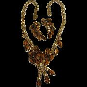 Juliana DeLizza & Elster Demi Parure Necklace & Earrings