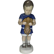 SALE Ole. Bing & Grondahl Royal Copenhagen Porcelain Boy holding Puppy Dog No. 1747