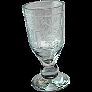 RARE, 19th Century Masonic Bohemian Glass Goblet