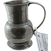 Rare 18/19th Century French Pewter Jug