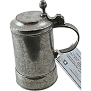 19th Century German Pewter Stein - 1