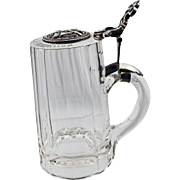 Antique Masonic Glass Stein