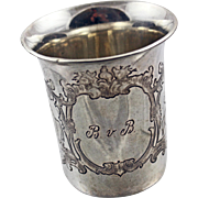 19Century European Silver Cup Marked '12 loth'