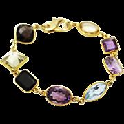 SALE 60CT Natural Mutli-Color Gemstones, Citrine, Amethyst, Garnet, Blue Topaz and Smoky Quart