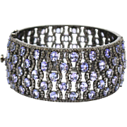 SALE Stunning 45 CT Natural Tanzanite Diamond Bangle Bracelet