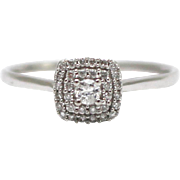 SALE Natural Diamond Ring in 14KT White Gold