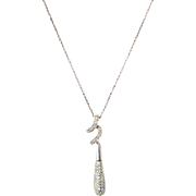 SALE Amazing Pave' Twist Diamond Pendant Necklace 14KT Gold