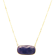 SALE 11 CT Natural Tanzanite Necklace 14KT Yellow Gold