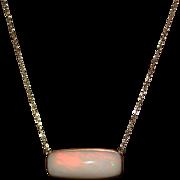 SALE 14kt Gold 23CT Natural Ethiopian Opal Handmade Bezel Set Necklace
