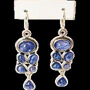 SALE Handmade Natural Tanzanite Earrings in Sterling Silver