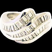 SALE 3.5 CT Bold Elegant Modern Natural Diamond Cocktail Band Ring in 18KT White ...
