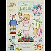 SOLD Six ANN ESTELLE & FRIENDS Paper Dolls; 2 Ann, 1 Georgia, 2 Gracie, 1 Tommy