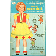 VINTAGE GABRIEL #304 SHIRLEY TEMPLE over 2 feet Stand-Up PAPER DOLL with LIFE LIKE ...