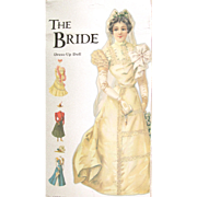 VINTAGE ENGLISH Paper Doll VICTORIAN BRIDE with Four Costumes and Hats; Shiny Embossed Heavy .