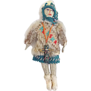 SALE Early to Middle 1900's Alaskan Inuit Eskimo Folk Art Souvenir Doll