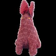 SALE Vintage 1930's-40's Folk Art Bunny Rabbit Stuffed Toy or Pin Cushion