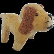 SALE Vintage Primitive Small Straw Stuffed Velveteen Cocker Spaniel Stuffed Dog Toy