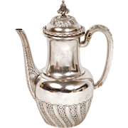 Antique French Sterling Silver Solitaire Coffee or Tea Pot, signed Odiot, 19th