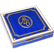 Italian gilt silver and enamel box, silversmith Salimbeni Renato, 20th century
