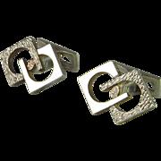 Modernist Men's Unique Vintage Cufflinks Mid Century Cufflinks Sterling CuffLinks Silver 1950s