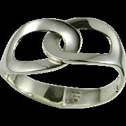 Modernist Sterling Silver Bangle Bracelet Cuff 925 Handmade Chunky Statement Big Wide Unique .