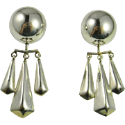 Mexican Chandelier Silver Earrings Sterling Silver 925 Handmade Jewelry Chunky Statement ...
