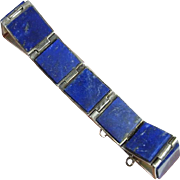 Vivid Gem Lapis Sterling Silver Bracelet Tennis Line Classic Timeless 925 Spectacular Finest .