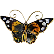 Petite Gorgeous Butterfly Mid Century Hand Made Sterling Silver Designer Signed Pin Brooch