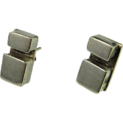 Minimalist Silver Earrings Sterling Silver Modernist Dainty Jewelry Pretty One of a Kind ...
