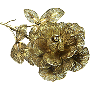 Filigree Brooch Rose Brooch Rose Jewelry Art Deco Brooch Art Deco Bridal Jewely Bouquet Brooch