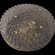 Mid Century 60´s Cracked Ice BUR Glass Flush Mount Ceiling Lamp