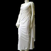 Artaban 1950's jersey drape evening gown