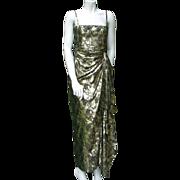 Lanvin Haute Couture 1970 lame evening dress