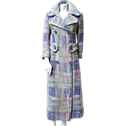 Pierre Cardin 1970 Couture Tweed Coat